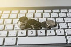 Finansiella och teknologitransaktioner arkivbilder
