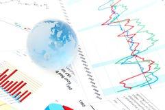 finansiella papperen Arkivfoto