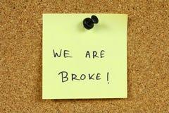 finansiella problem arkivfoton