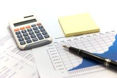 finansiella rapporter Fotografering för Bildbyråer