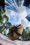 Finansiella skyskrapabyggnader i Charlotte North Carolina Arkivfoton