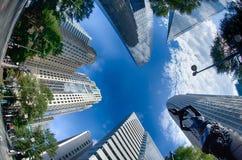 Finansiella skyskrapabyggnader i Charlotte North Carolina Royaltyfri Fotografi