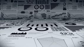 Finansiella stångdiagram och växande grafer Affärsinfographics med djup av fältet på ljus vit bakgrund Affärsframgång, gr royaltyfri illustrationer