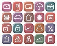 finansiella symboler Arkivfoton