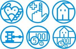 Finansiella symboler Arkivbild