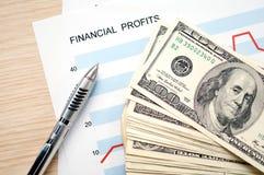 finansiella vinster Arkivbild