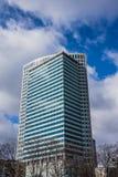 Finansiella Warsaw centrerar Royaltyfri Fotografi