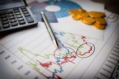 Finansiellt analyserande begrepp Arkivfoto