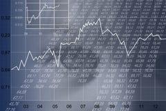 finansiellt ark Arkivfoton