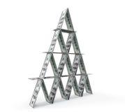 Finansiellt begrepp. Abstrakt pengarpyramid royaltyfri illustrationer
