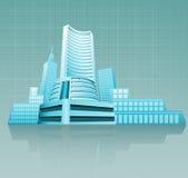 finansiellt byggande Arkivfoto