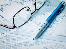 finansiellt diagram Arkivbilder