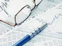 finansiellt diagram Arkivbild