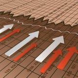 finansiellt diagram stock illustrationer