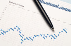 Finansiellt diagram Arkivfoton