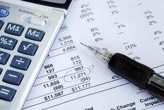 finansiellt felmeddelande Arkivbilder