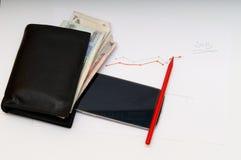 Finansiellt flöde Arkivfoto