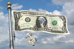 finansiellt flyga för flaggor Royaltyfri Foto