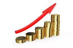 Finansiellt framgång- och för affärsframgång begrepp stock illustrationer