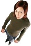 finansiellt ha problemkvinnan Arkivfoto