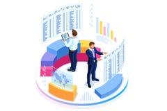 Finansiellt konsultera för affärsbaner vektor illustrationer