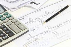Finansiellt och redovisning Arkivbild