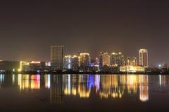 Finansiellt område (den amoy staden för nattsikten) Royaltyfri Foto