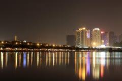 Finansiellt område (den amoy staden för nattsikten) Royaltyfria Foton
