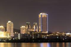 Finansiellt område (den amoy staden för nattsikten) Royaltyfri Bild
