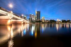 Finansiellt område Frankfurt arkivfoton