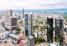 Finansiellt område i Frankfurt Royaltyfria Bilder
