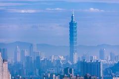 Finansiellt område i Taipei, Taiwan Royaltyfri Foto