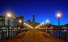 Finansiellt område, Pier7, San Francisco, Californa, USA royaltyfri bild