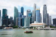 Finansiellt område i Singapore Fotografering för Bildbyråer