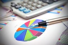 Finansiellt pajdiagram Arkivbilder