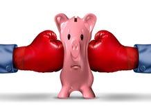 Finansiellt pengartryck stock illustrationer