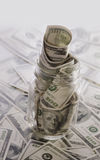 Finansiellt plan som sparar avgångpengar Royaltyfri Fotografi
