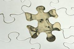 finansiellt pussel arkivfoto