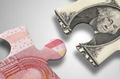 Finansiellt pussel Fotografering för Bildbyråer