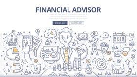 Finansiellt rådgivareklotterbegrepp vektor illustrationer