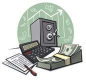 Finansiellt redogöra stock illustrationer