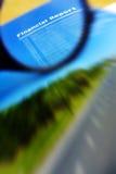 Finansiellt studera för rapport Arkivfoton