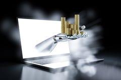 Finansiellt teknologibegrepp vektor illustrationer