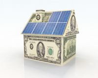 finansiera photovoltaic system Arkivfoto
