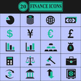 finansiera symboler Arkivbilder