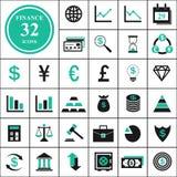 finansiera symboler Royaltyfri Foto