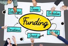 Finansiering Grant Donation Diagram Concept arkivfoto