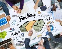 Finansiering som packar ihop finansiellt begrepp för budget- kreditering Royaltyfri Fotografi