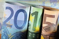 Finansieringsår 2015 Fotografering för Bildbyråer