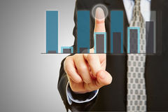 Finansowa analiza na ekranie sensorowym Zdjęcie Stock